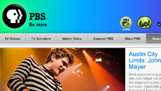 PBS Homepage Redesign